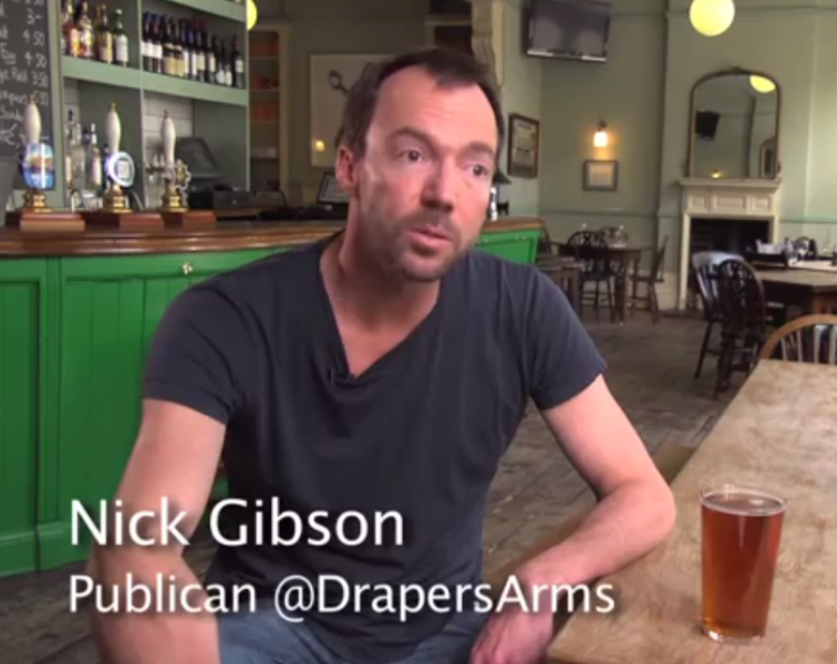 #RestaurantWeek – Nick Gibson, The Drapers Arms
