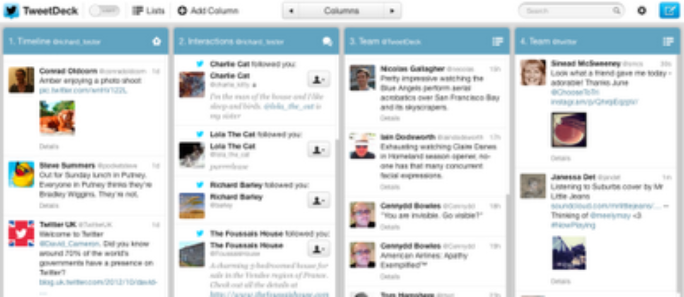 A new look for TweetDeck