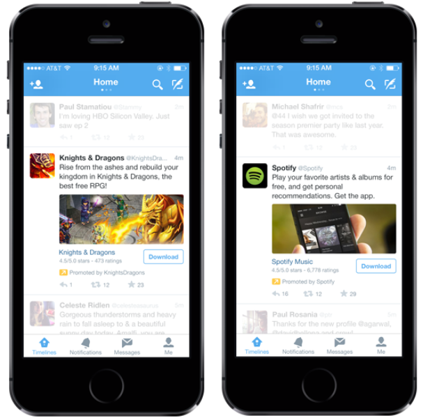 A new way to promote mobile apps to 1 billion devices, both on and off-Twitter