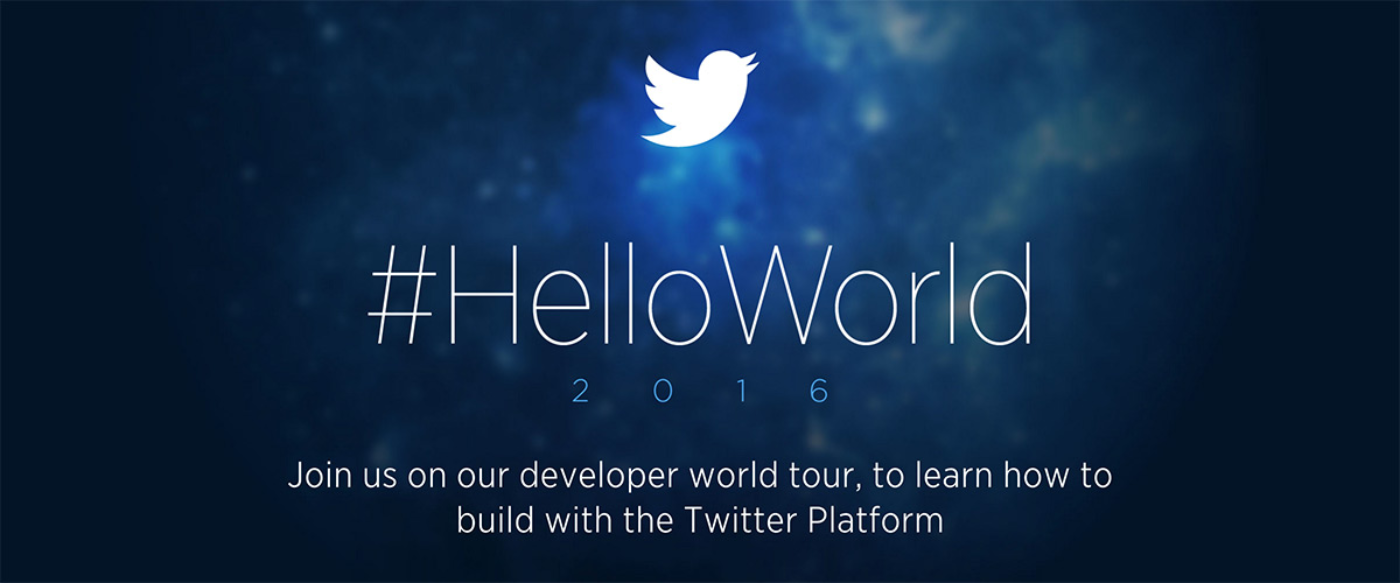 Announcing our 2016 #HelloWorld developer tour