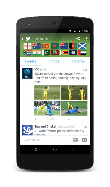 Bringing the #CWC15 experience closer to fans on Twitter