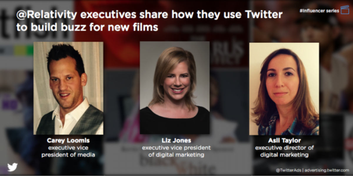 Influencer Q&A with @Relativity: Why a movie studio uses Twitter to launch trailers