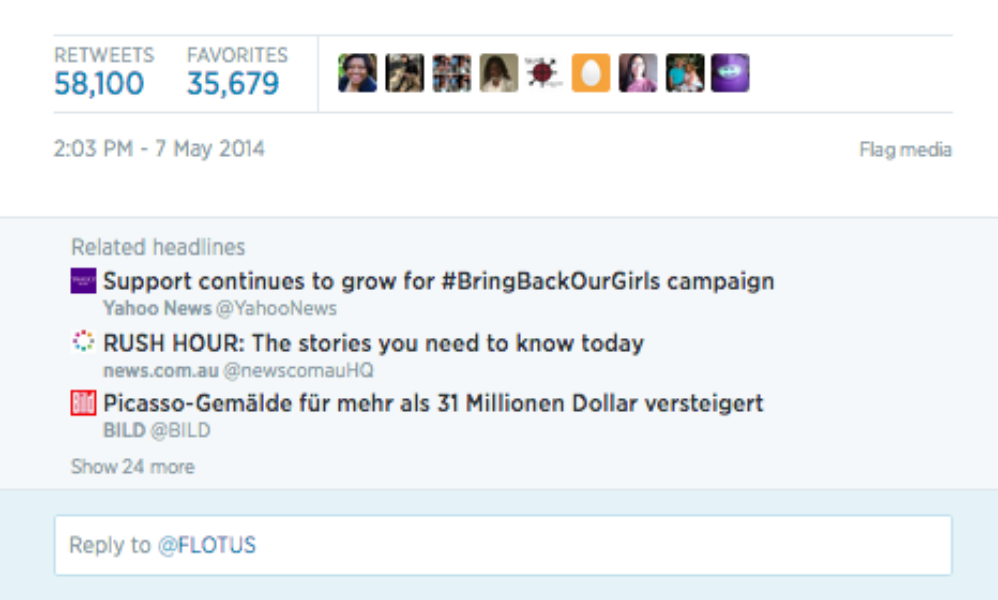 Michelle Obama tweets to #BringBackOurGirls