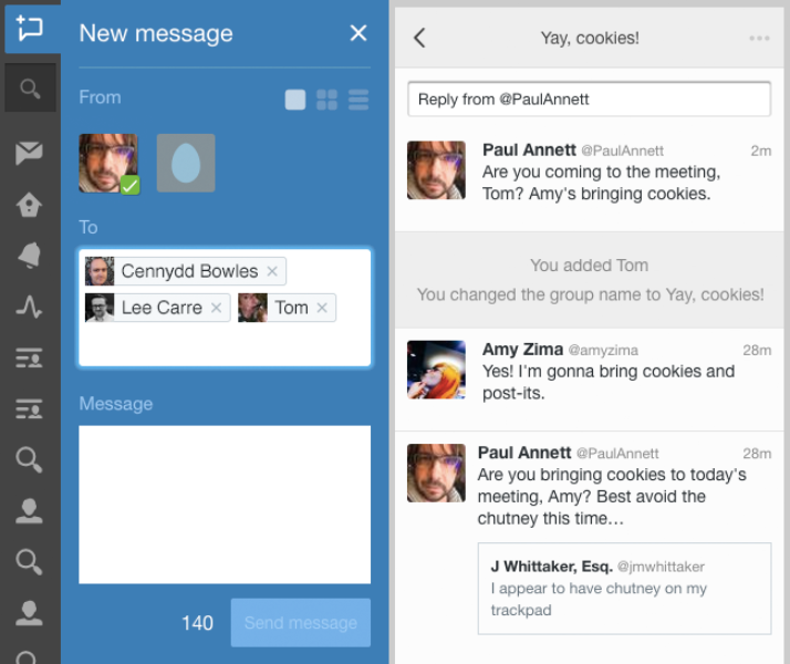 Now on TweetDeck: group Direct Messages