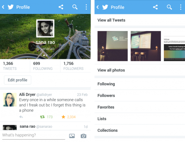 designing the new twitter profiles