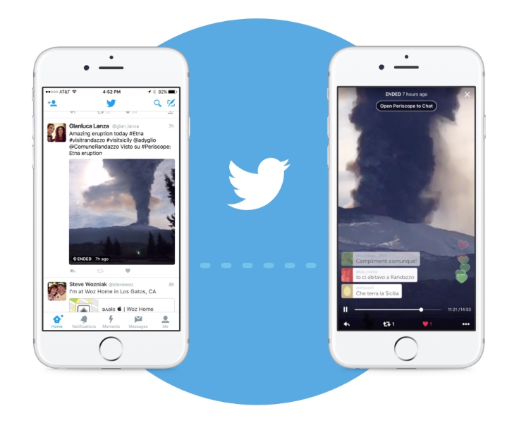 Periscope broadcasts: live on Twitter