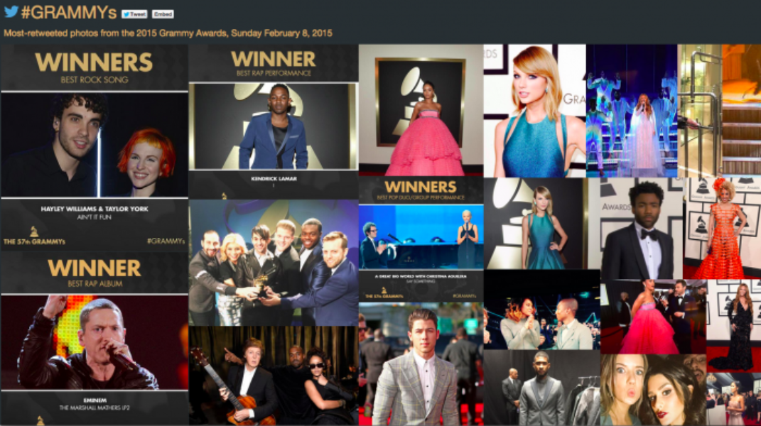 The #GRAMMYs, in real time