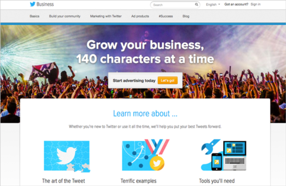 The new business.twitter.com: Learn to tweet your way to #success