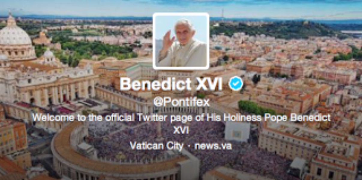 The Pope's first Tweets