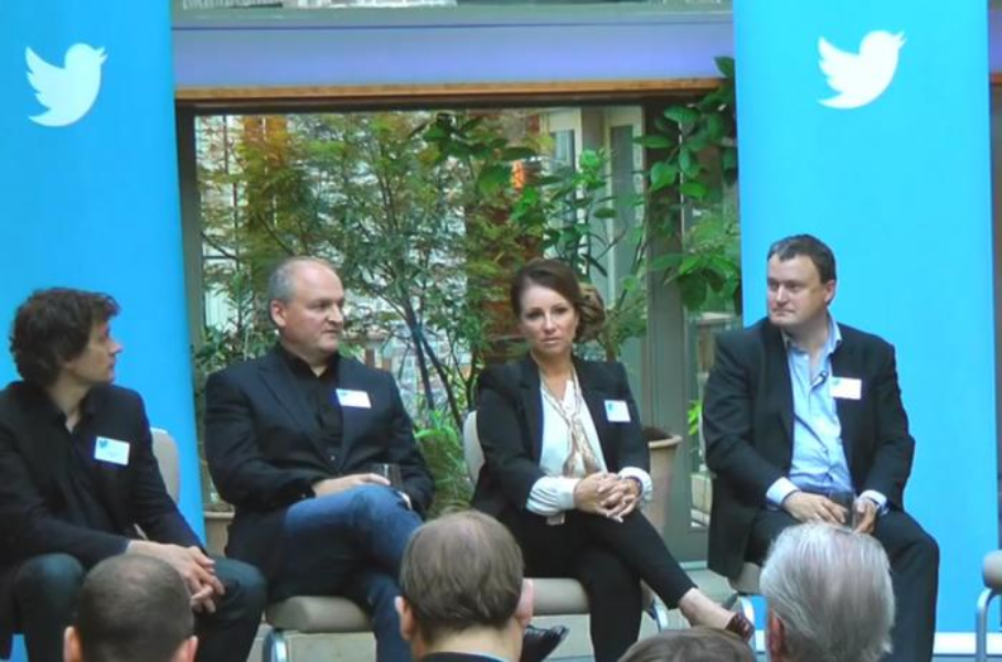 Tweets From the Top Panel (L-R Bruce Daisley, Darren Childs, Jacqueline Gold and AndrewMiller
