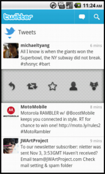 Twitter for Android: Update available